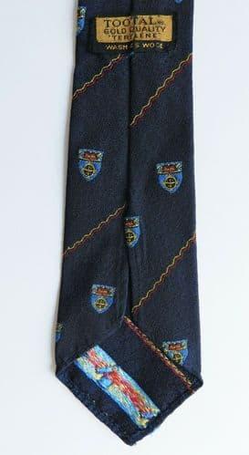 Gold Quality Tootal terylene tie college university school vintage 1950s 1960s